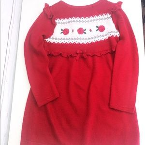 Crazy 8 Red Rose 🌹 Sweater Dress | 5 Years